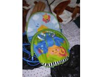 Baby swing and baby bouncer