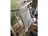 Vintage gold towel rail