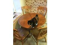 Vintage Country Solid Pine Table With Chairs