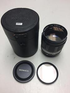 Konica Hexanon 85mm f1.8 lens in Konica KR mount manual focus lens with 90 days warranty