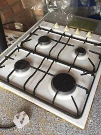 Gas hob - excellent condition - white.