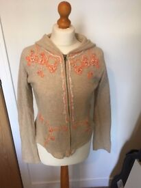 Women's cardigan size 10 with hood
