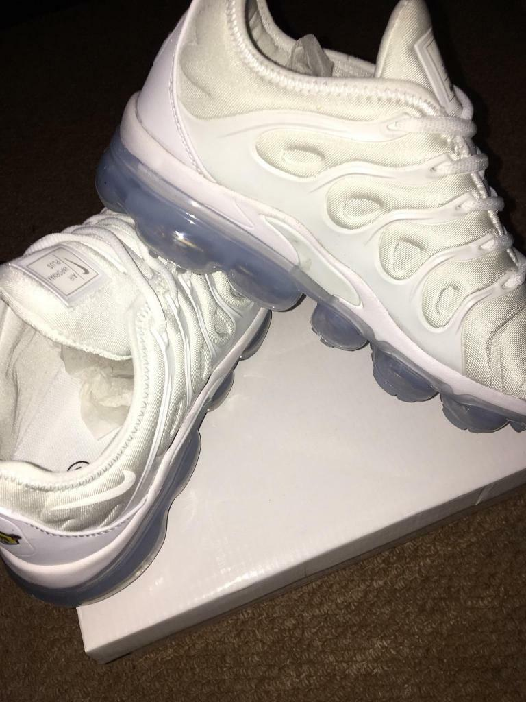 online retailer 678aa 51a52 SIZE 9 BRAND NEW NIKE VAPORMAX PLUS BOXED TRAINERS WHITE (NOT) tn 90 95 97  AIR flyknit run utility | in Erdington, West Midlands | Gumtree