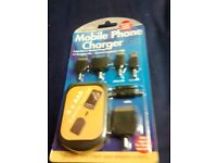 Mobile Phone Charger with fitments- new/sealed