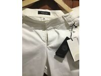 Versace white trousers