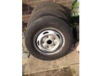 Transit van wheel and thick Tyers