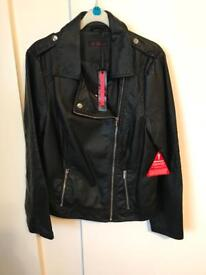 BNWT leather look jacket size 14