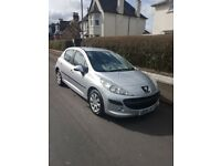 REDUCED MUST SELL !! Peugeot 207 S 5 dr 1.4 new MOT Silver/black, aircon,cd/radio Super condition