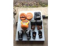 Phoenix fitness & Everlast & Lonsdale boxing gloves, pads & kettlebell JOBLOT