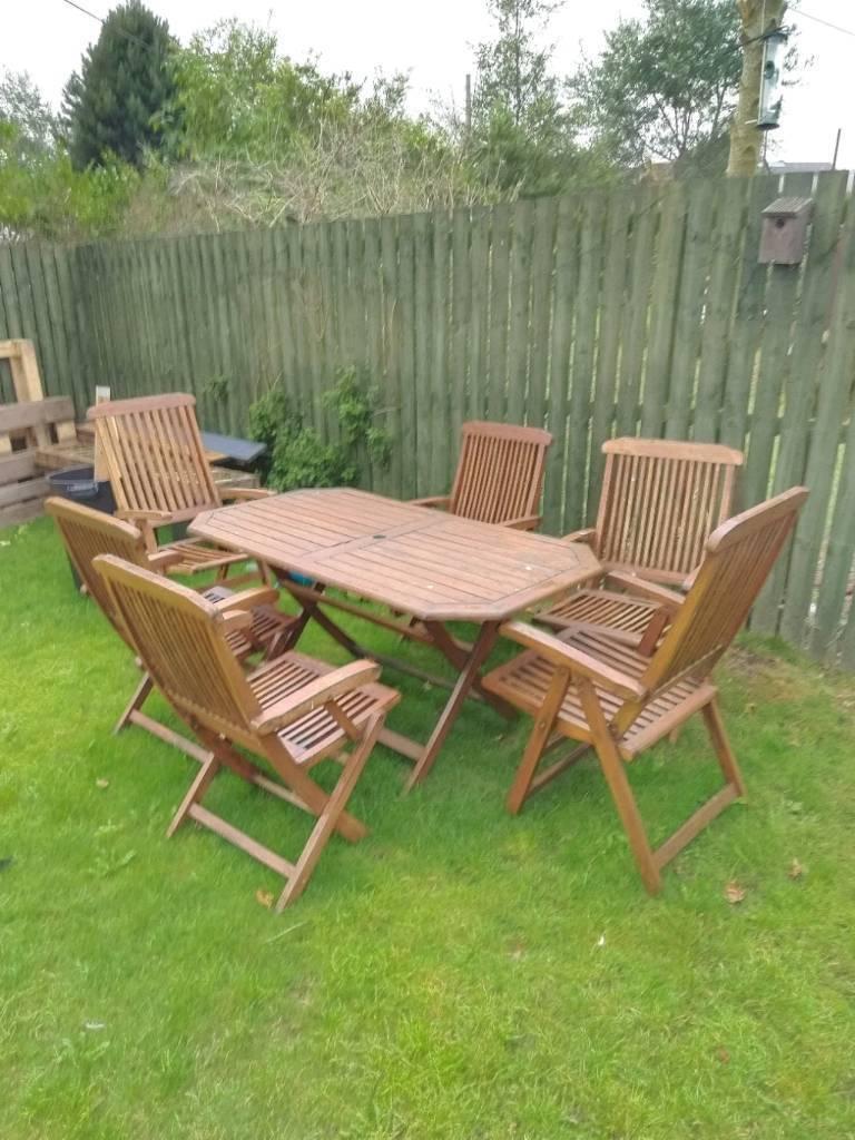 Wooden garden table n chair set glasgow £40 00