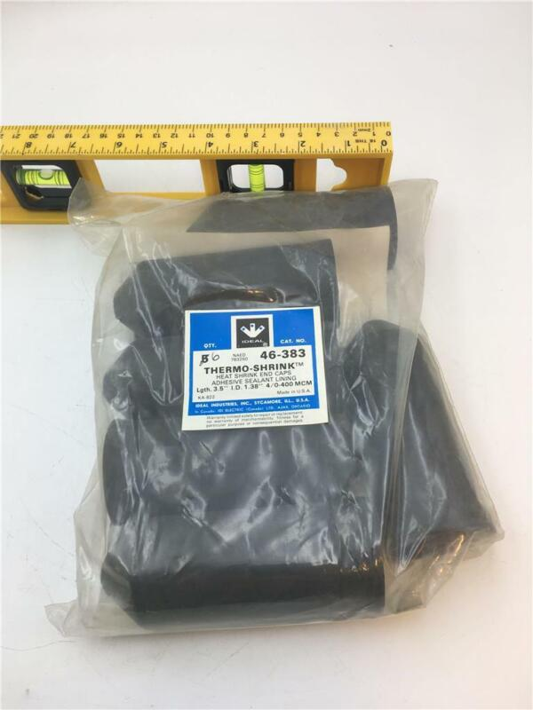 """3M Thermo-Shrink 46-383 Heat  Shrink End Caps Lgth 3.5"""" I.D. 1.38"""""""