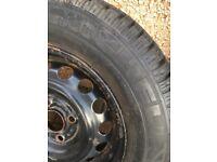 Tyre 13 inch on steel wheel