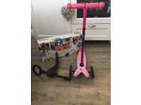 3 in 1 mini micro scooter in pink