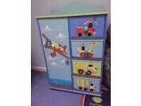 Childs Digger/Aeroplane/Truck Wardrobe