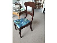 Victorian high backed Mahogany dining chair