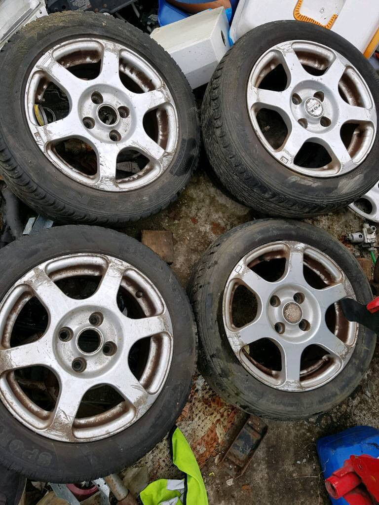 4x100 Fox Racing Alloy wheels vw polo lupo seat arosa golf e30 ef
