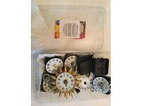 Clocks - small battery quartz wall clock kits