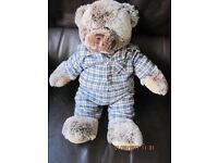 GENUINE BEAUTIFUL BUILD A BEAR dressed in pj's! FABULOUS CONDITION - REDUCED PRICE +FREE soft toy!