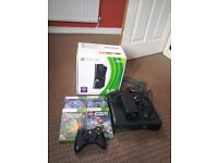 Xbox 360 with wireless controller and 4 games £60 ono