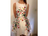 White floral dress size 6 -NEW LOOK