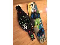 Cabrinha Tronic Twintip Kite Board (2014) including a Naish Medium Kitesurf Harness