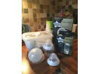 Electric and manual breast pumps plus accessories. All Tommee Tippee