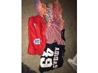 Boys t.shirts age 10-12 four original tops Hype, Adidas, England and Polo Ralph Lauren