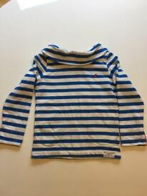 Joules striped girls jumper size 7 years.