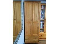 Solid wood wardrobe 220x80x60