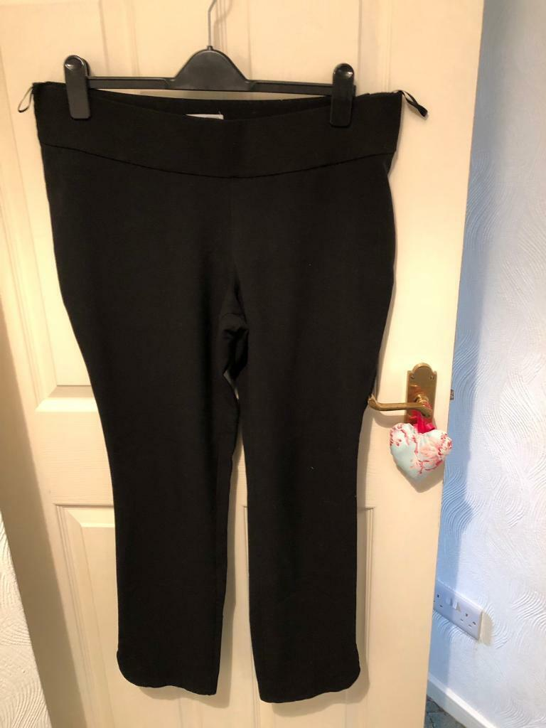 63db5f72736df Black under bump maternity work trousers size 14   in Arnold ...