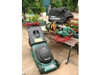 Qualcast electric lawn mower & hedge trimmer with garden groom for sale