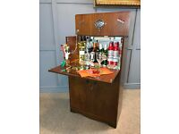 Cocktail Bar 1950's Drinks Cabinet Home Bar Retro Vintage FREE DELIVERY AVAILABLE