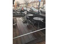 Aluminium tables and chair lot
