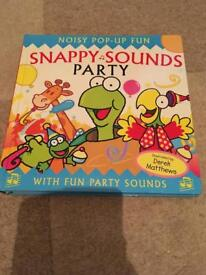 Snappy sounds party pop up book
