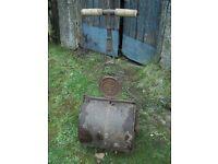 Antique/Vintage Cast Iron Garden Roller