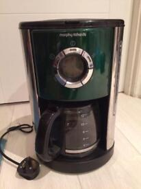 Coffee maker with timer 12 coffees capacity Morphy Richards coffee machine