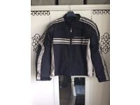 Frank Thomas Luffield Café Racer Men's Motorcycle Jacket - Black/Cream - Large £40