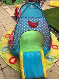 Trampoline and play tent