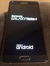 Galaxy note 4 black 32gb unlocked