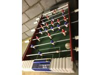 Table top football/soccer game featuring red against blue teams for sale