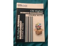 Higher Business Management Course Notes