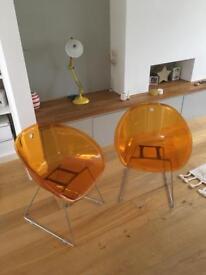 Pedrali Gliss 921 Orange Designer Chairs