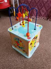 Wooden Activity Cube Baby Toy