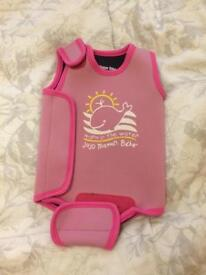 0-6 month 'warm in the water' girls swimming suit