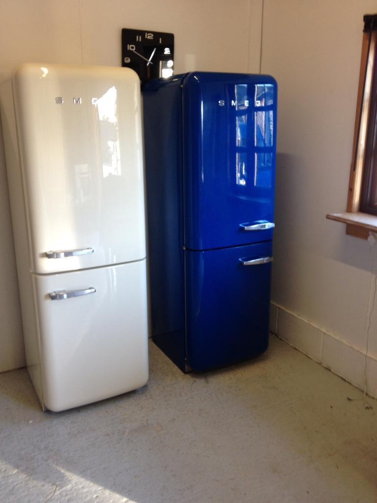 Blue Smeg Fridge Freezer