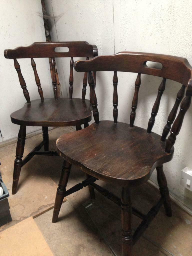 Old Farmhouse Wooden Chairs In Darlington County Durham Gumtree