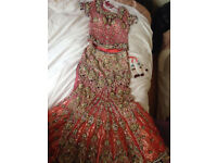Stunning Bridal Lengha Size 8-10 UK From KHUSHBOO BY CHAND
