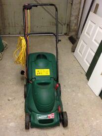 Electric lawn mower.