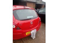vauxhall corsa d 3dr tailgate in red