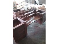 Large bench come planters new